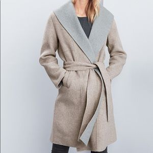 Eileen Fisher gray wool pea coat